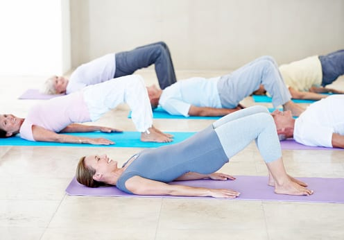 Pilates classes offered several days per week at Balance Solutions.