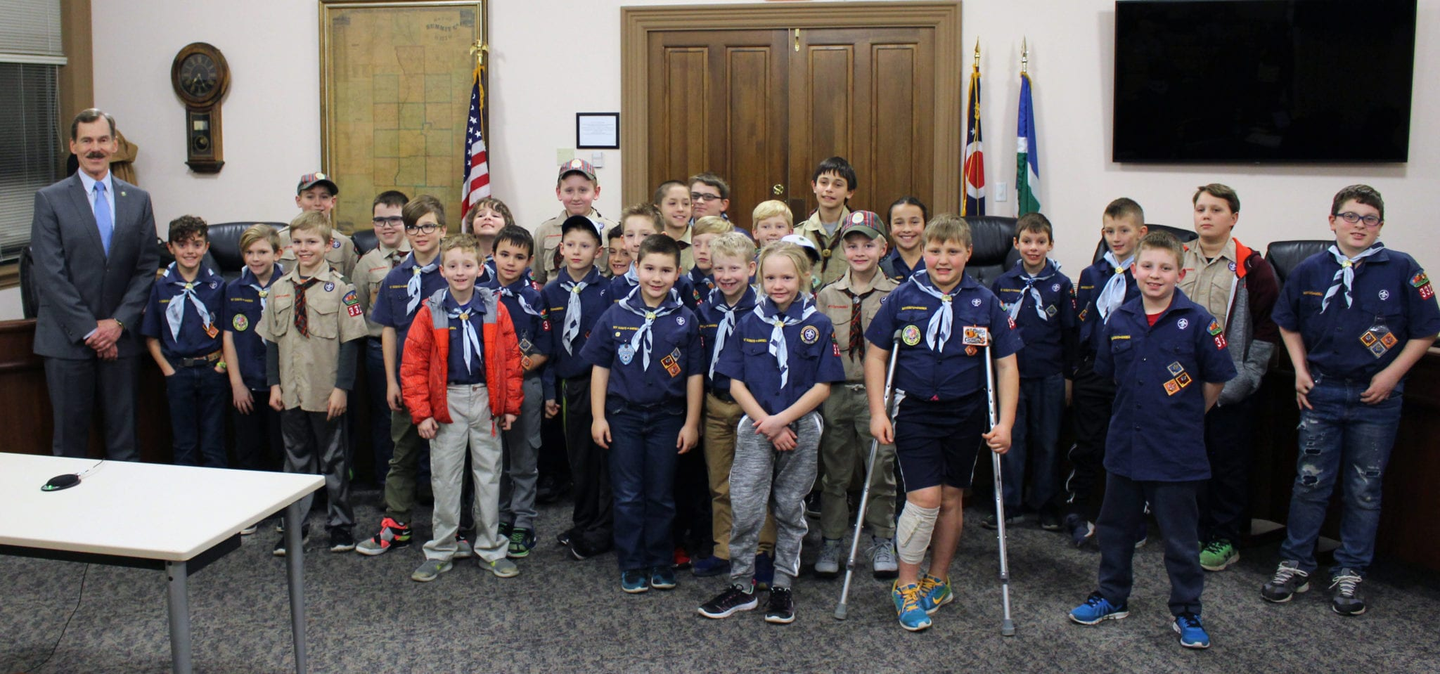 Hudson Ohio Cub Scouts Visit City Hall