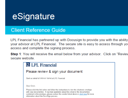 LPL eSIGNATURE INSTRUCTIONS