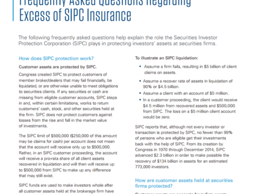 FAQs – EXCESS SIPC INSURANCE