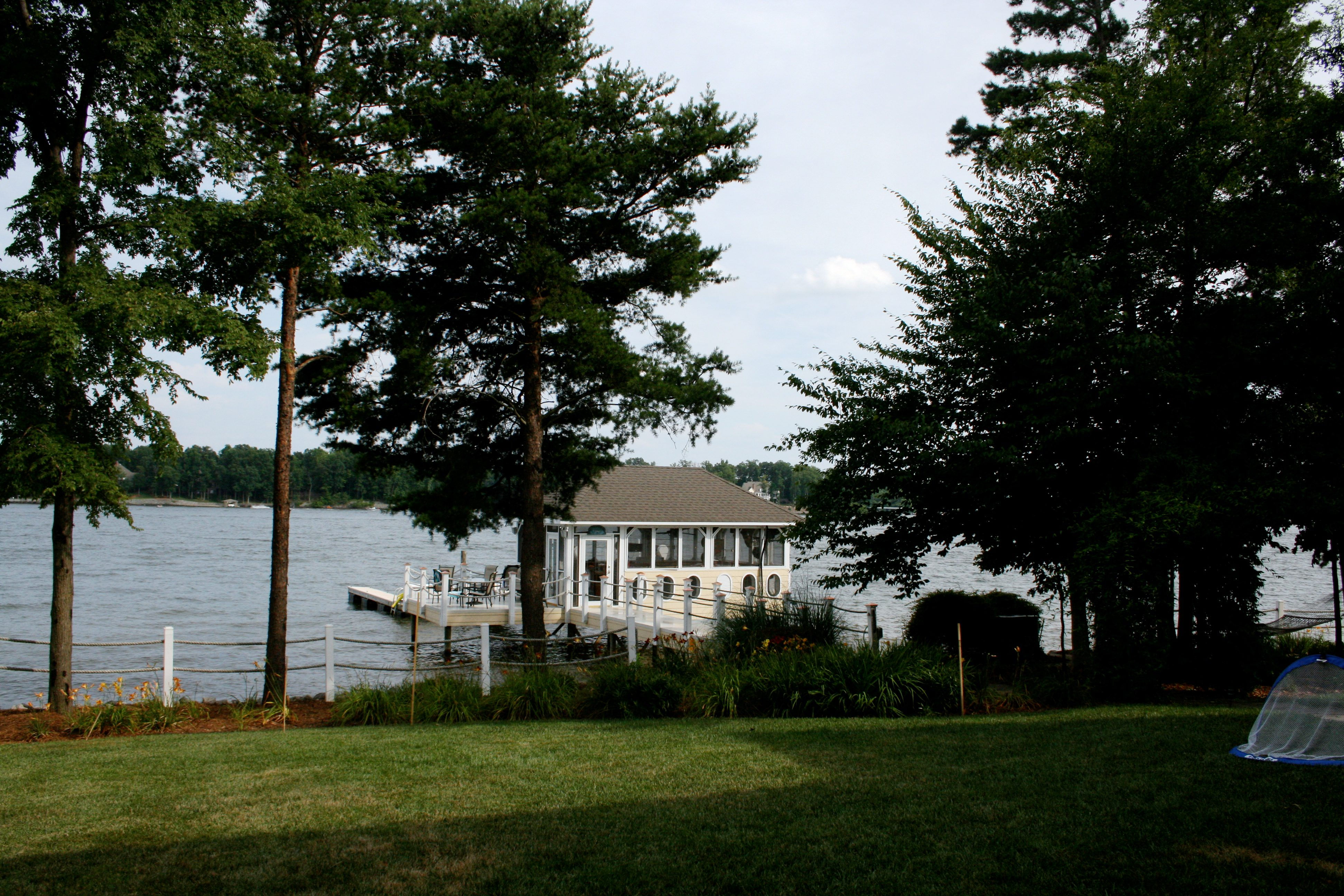 Lake Norman Rental Home with Boathouse Bar